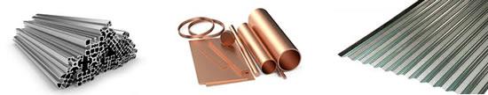 acero, aluminio, hierro